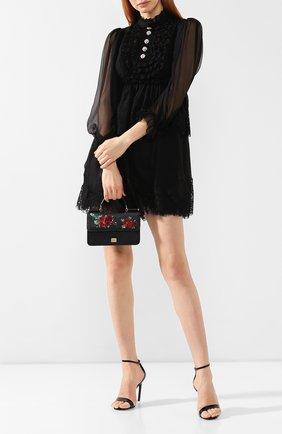 Женский сумка sicily mini DOLCE & GABBANA черного цвета, арт. BI1129/AK058   Фото 2