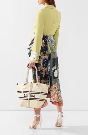 Женский сумка-тоут vick medium CHLOÉ белого цвета, арт. CHC19SS130A85 | Фото 2