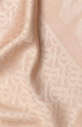 Женский платок из смеси шелка и шерсти BURBERRY розового цвета, арт. 8010113 | Фото 2