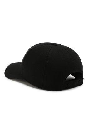 Хлопковая бейсболка Burberry черного цвета | Фото №2