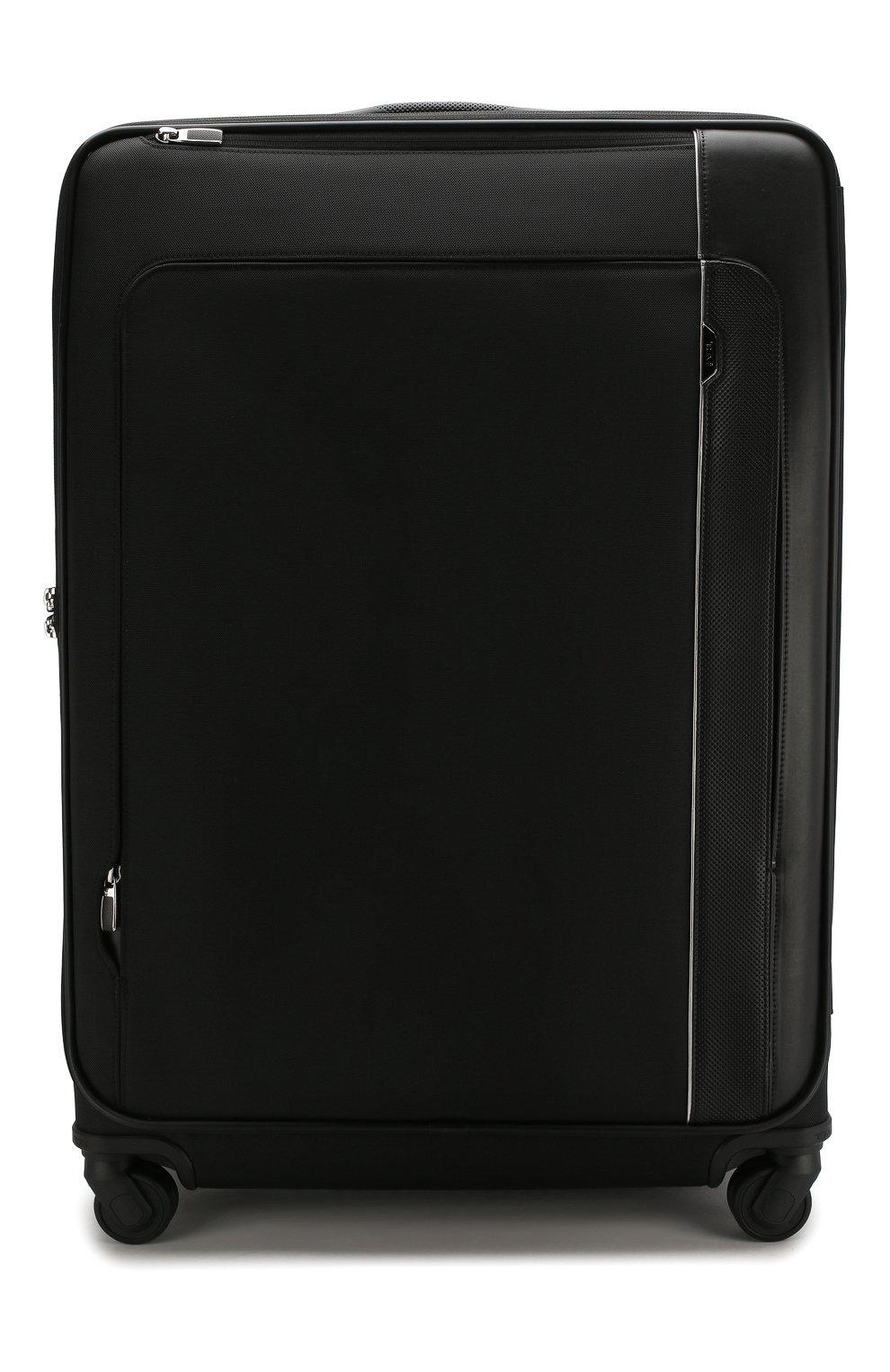 Женский дорожный чемодан arrive TUMI черного цвета, арт. 025503969D3 | Фото 1 (Статус проверки: Проверено, Проверена категория; Ограничения доставки: oversized; Размер: large)