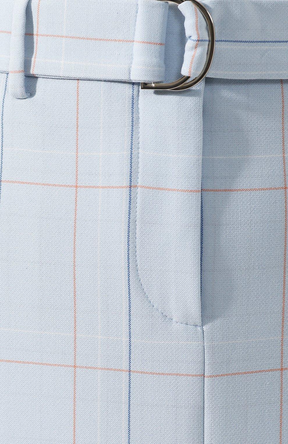 Женская юбка в клетку BOSS голубого цвета, арт. 50404795 | Фото 5