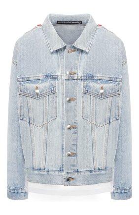 Женская джинсовая куртка DENIM X ALEXANDER WANG голубого цвета, арт. 4D992446BZ | Фото 1