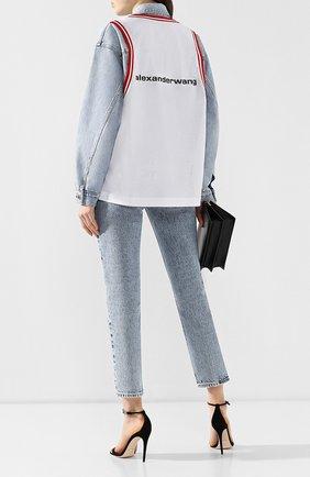 Женская джинсовая куртка DENIM X ALEXANDER WANG голубого цвета, арт. 4D992446BZ | Фото 2