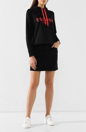 Женская худи с логотипом бренда ESCADA SPORT черного цвета, арт. 5030172 | Фото 2