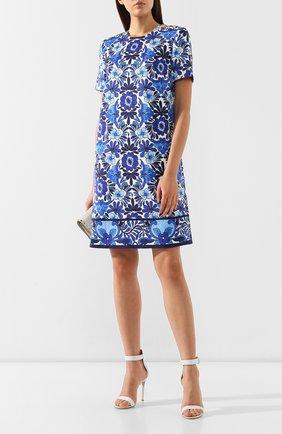 Женское платье с принтом ESCADA синего цвета, арт. 5030175 | Фото 2