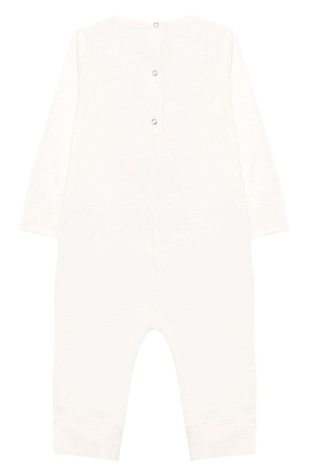 Детский хлопковая пижама GUCCI белого цвета, арт. 548241/XJAJG | Фото 2