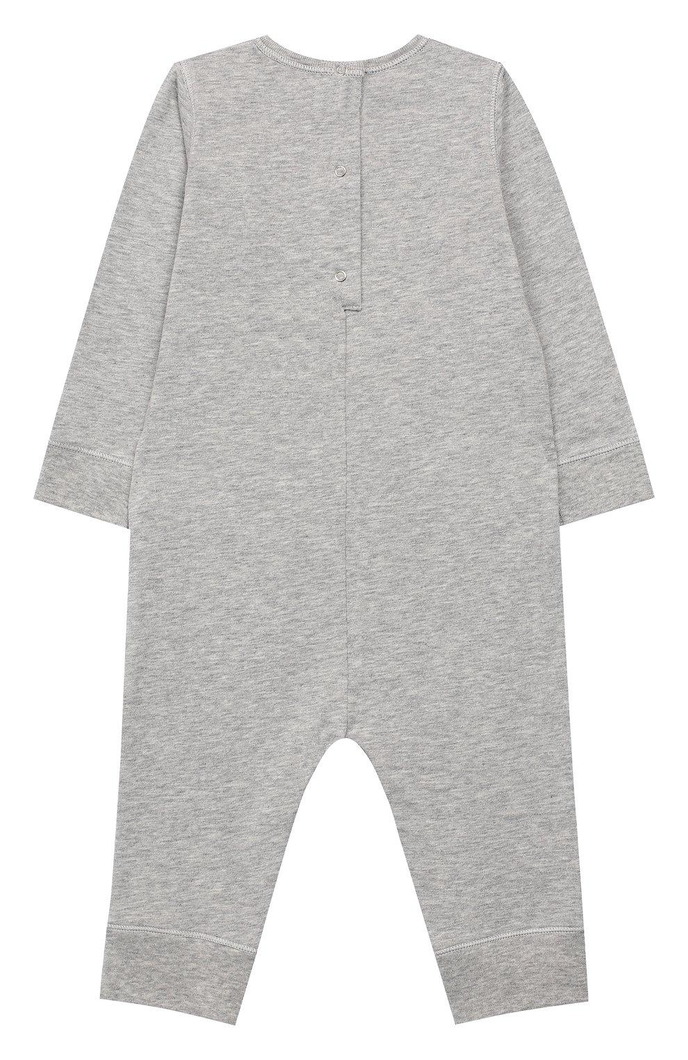 Детский хлопковая пижама GUCCI серого цвета, арт. 548241/XJAJG | Фото 2