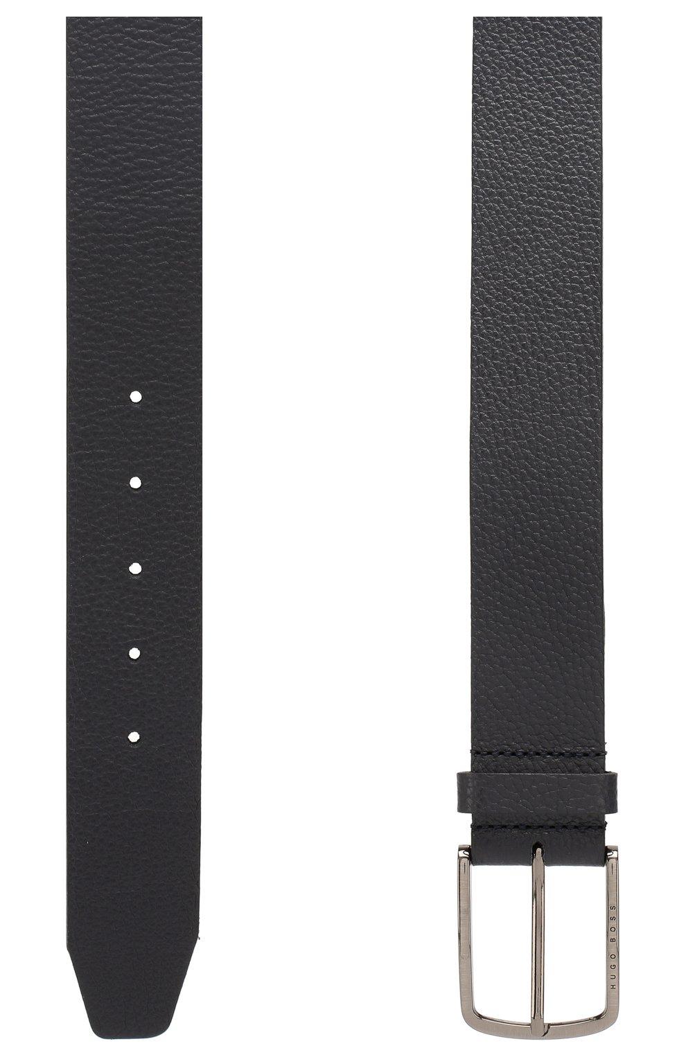 Мужской кожаный ремень BOSS черного цвета, арт. 50413064 | Фото 2