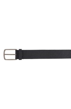 Мужской кожаный ремень BOSS черного цвета, арт. 50413064 | Фото 3