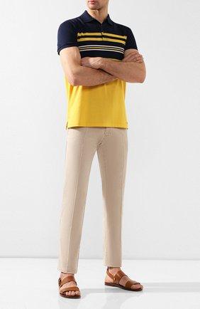Мужские кожаные сандалии RALPH LAUREN коричневого цвета, арт. 815744321 | Фото 2