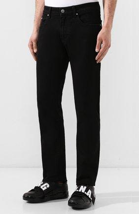Джинсы Karl Lagerfeld denim черные | Фото №3