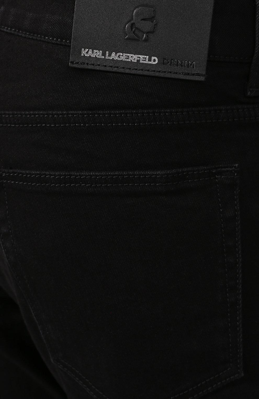 Джинсы Karl Lagerfeld denim черные | Фото №5
