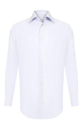 Мужская хлопковая рубашка BRIONI голубого цвета, арт. RCLU16/P807Q | Фото 1
