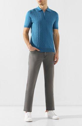 Мужские джинсы ZILLI светло-серого цвета, арт. MCR-00219-DEJA2/R001 | Фото 2