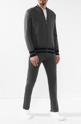 Мужской спортивный костюм из смеси шелка и хлопка ZILLI серого цвета, арт. MBR-J0499-JEJ01/ML01 | Фото 1