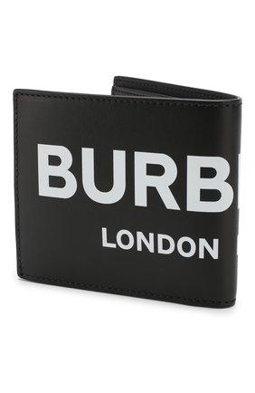 Мужской кожаное портмоне BURBERRY черного цвета, арт. 8008887 | Фото 2
