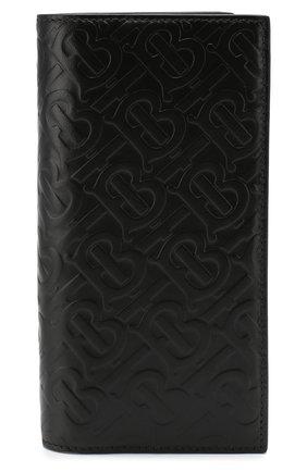 Мужской кожаное портмоне BURBERRY черного цвета, арт. 8009205 | Фото 1