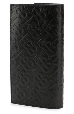 Мужской кожаное портмоне BURBERRY черного цвета, арт. 8009205 | Фото 2