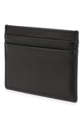 Мужской кожаный футляр для кредитных карт BURBERRY черного цвета, арт. 8009213 | Фото 2