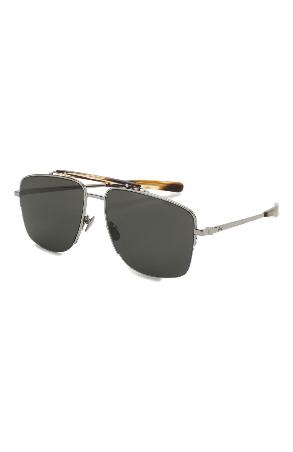Мужские солнцезащитные очки BRIONI серого цвета, арт. BR0053 002 | Фото 1
