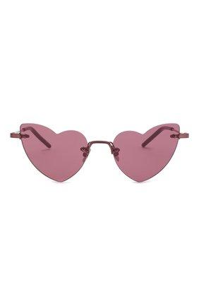 Женские солнцезащитные очки SAINT LAURENT фиолетового цвета, арт. SL 254 L0UL0U 004 | Фото 3
