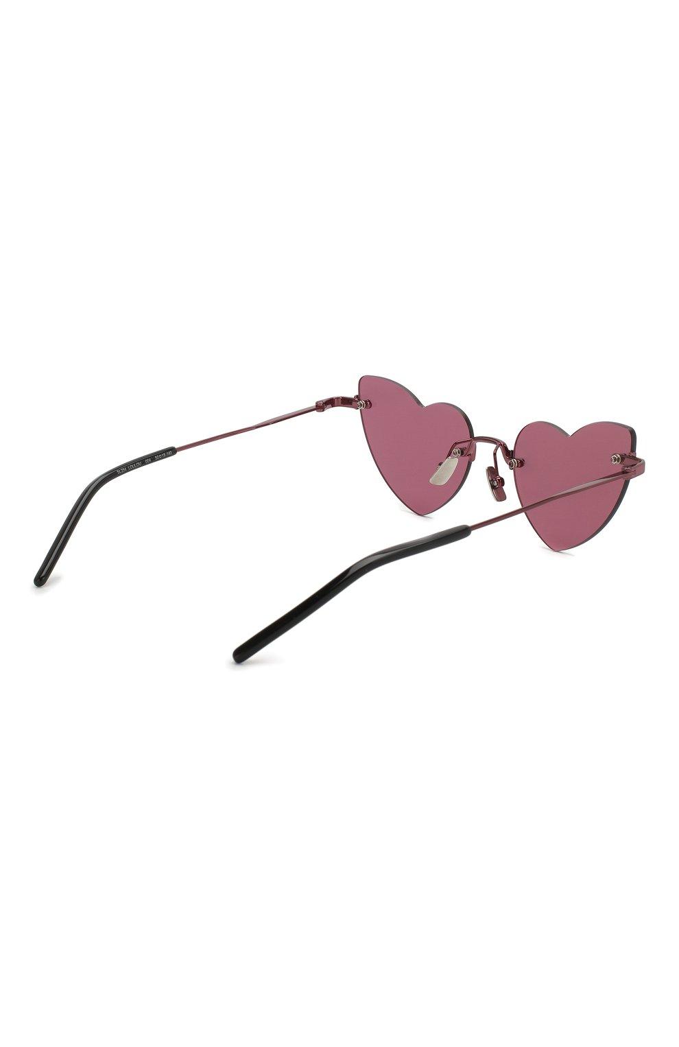 Женские солнцезащитные очки SAINT LAURENT фиолетового цвета, арт. SL 254 L0UL0U 004 | Фото 4