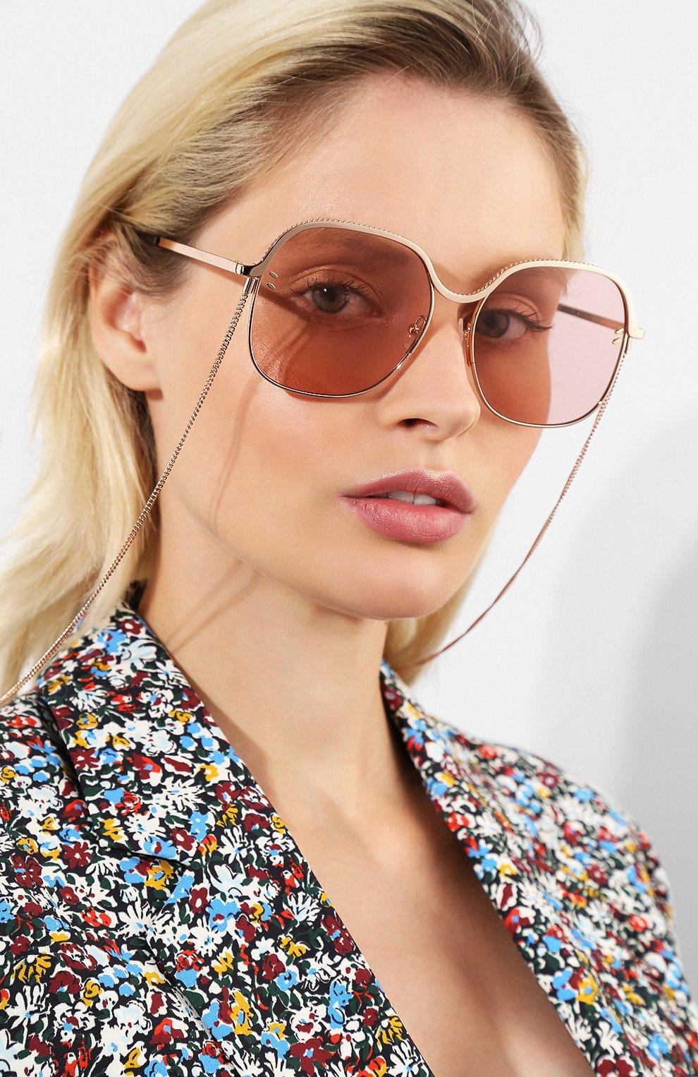 Женские солнцезащитные очки STELLA MCCARTNEY розового цвета, арт. SC0166 004 | Фото 2