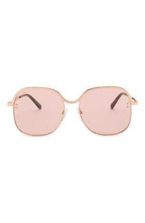 Женские солнцезащитные очки STELLA MCCARTNEY розового цвета, арт. SC0166 004 | Фото 3