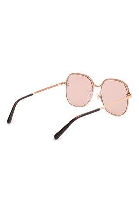 Женские солнцезащитные очки STELLA MCCARTNEY розового цвета, арт. SC0166 004 | Фото 4