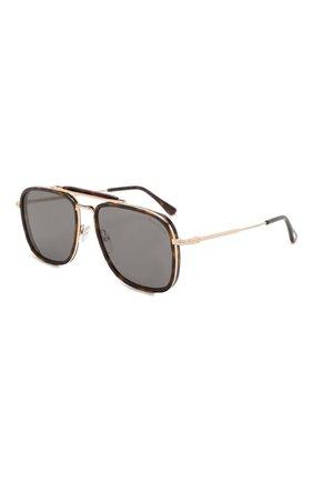 Мужские солнцезащитные очки TOM FORD коричневого цвета, арт. TF665 52A | Фото 1