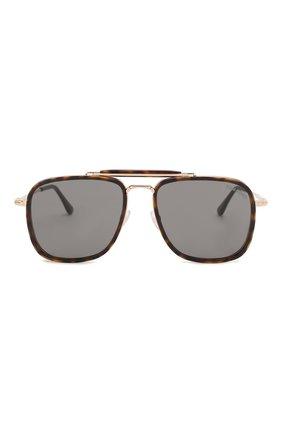 Мужские солнцезащитные очки TOM FORD коричневого цвета, арт. TF665 52A | Фото 2