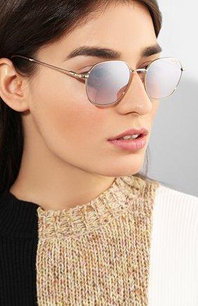 Женские солнцезащитные очки CARRERA серебряного цвета, арт. CARRERA 180/F 06J   Фото 2
