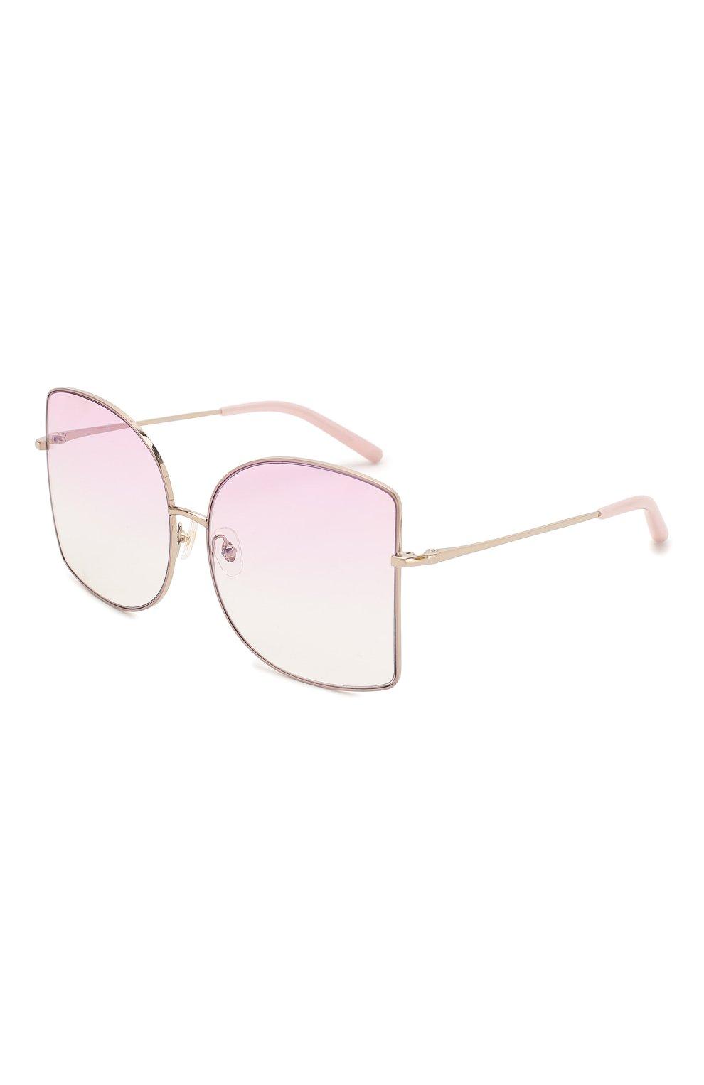 Женские солнцезащитные очки MATTHEW WILLIAMSON светло-розового цвета, арт. MW214C5 SUN   Фото 1