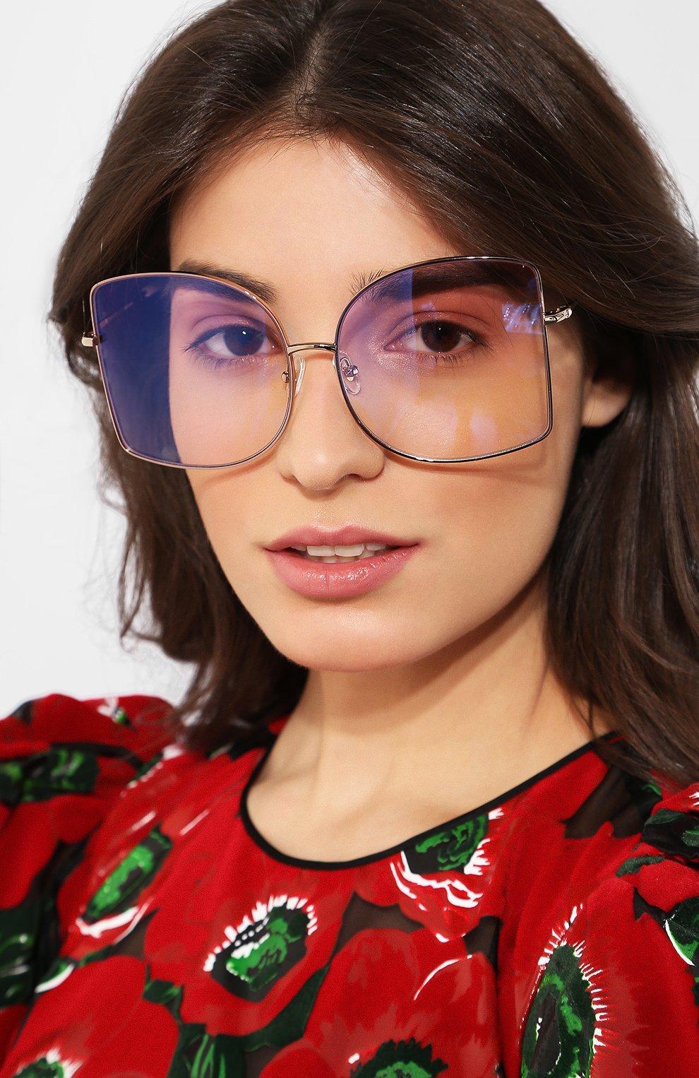 Женские солнцезащитные очки MATTHEW WILLIAMSON светло-розового цвета, арт. MW214C5 SUN   Фото 2