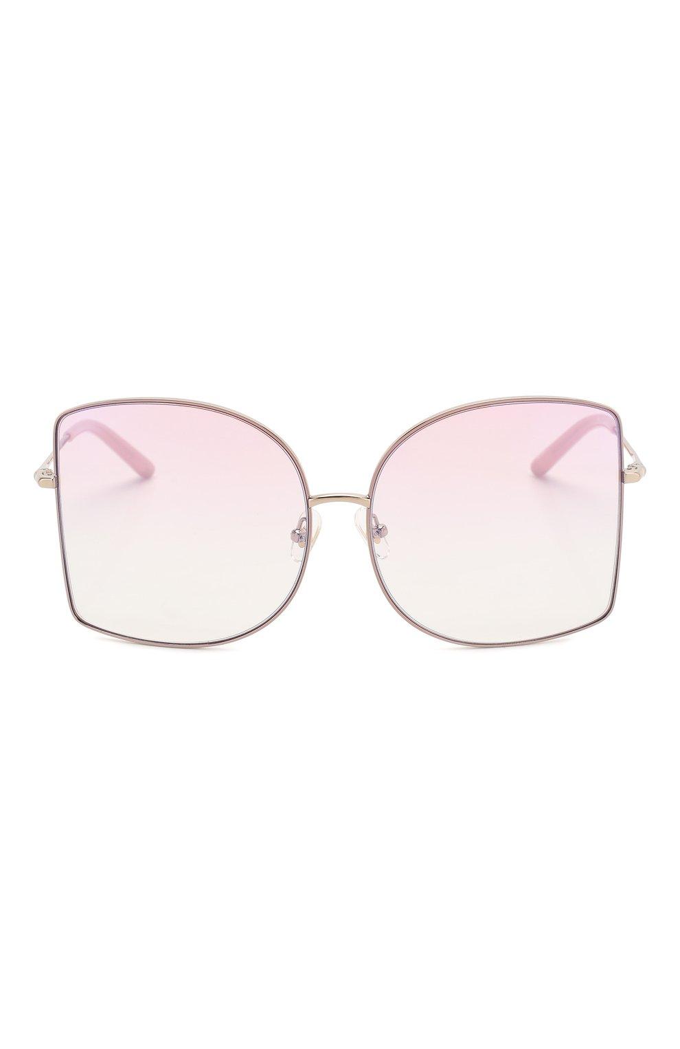 Женские солнцезащитные очки MATTHEW WILLIAMSON светло-розового цвета, арт. MW214C5 SUN   Фото 3