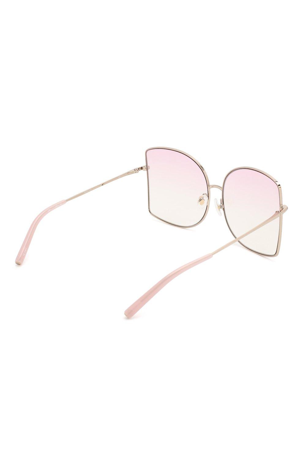 Женские солнцезащитные очки MATTHEW WILLIAMSON светло-розового цвета, арт. MW214C5 SUN   Фото 4