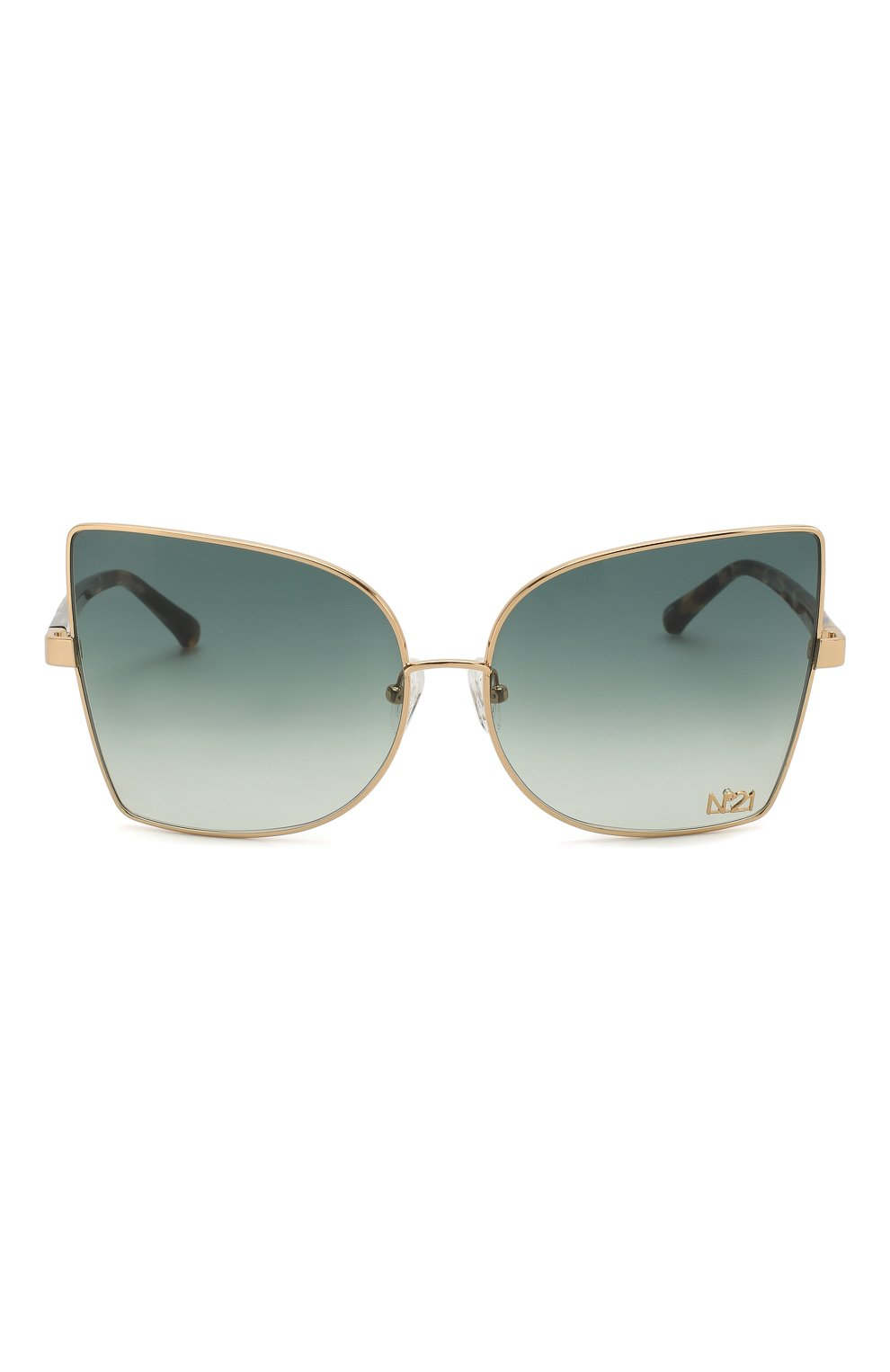 Женские солнцезащитные очки N21 темно-зеленого цвета, арт. N21S41C3 SUN | Фото 3