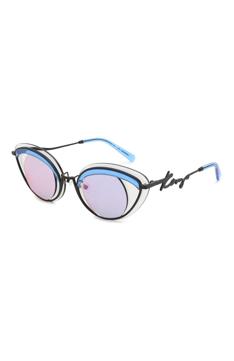 Женские солнцезащитные очки KENZO голубого цвета, арт. KZ40001U 02A | Фото 1