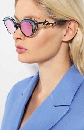 Женские солнцезащитные очки KENZO голубого цвета, арт. KZ40001U 02A | Фото 2
