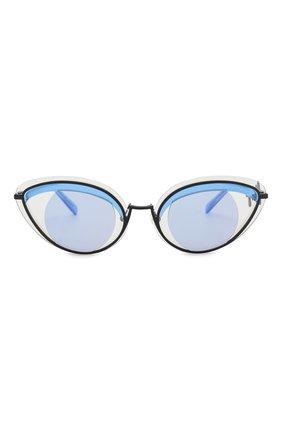 Женские солнцезащитные очки KENZO голубого цвета, арт. KZ40001U 02A | Фото 3