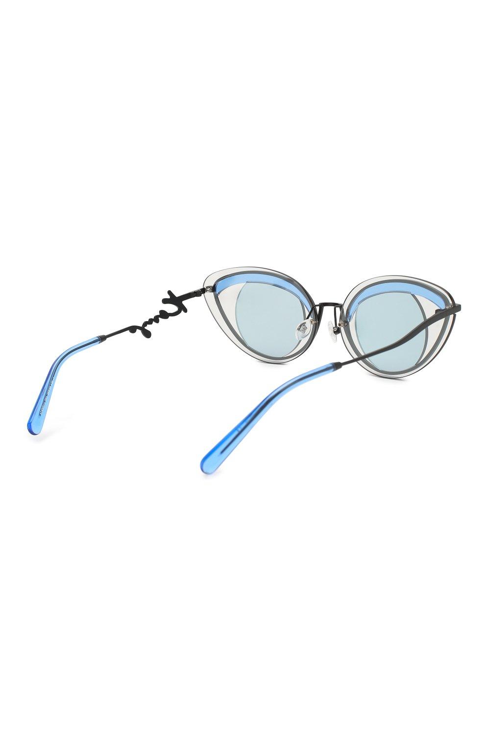 Женские солнцезащитные очки KENZO голубого цвета, арт. KZ40001U 02A | Фото 4