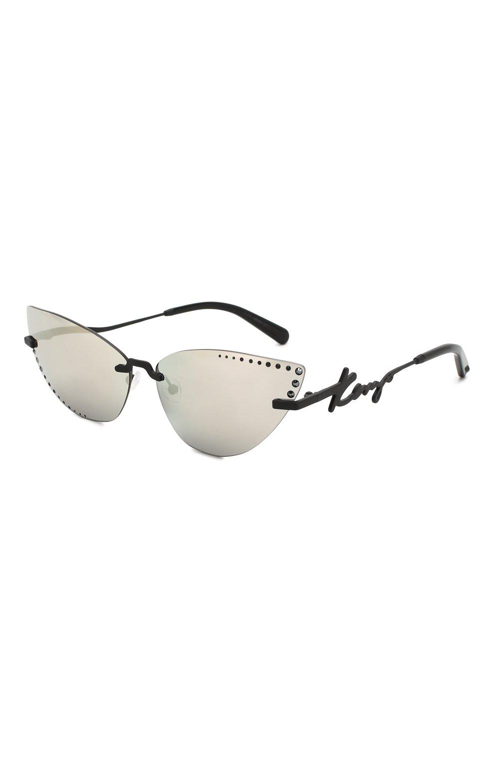Женские солнцезащитные очки KENZO серебряного цвета, арт. KZ40004U 02C | Фото 1