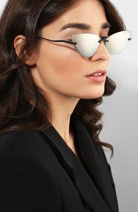Женские солнцезащитные очки KENZO серебряного цвета, арт. KZ40004U 02C | Фото 2