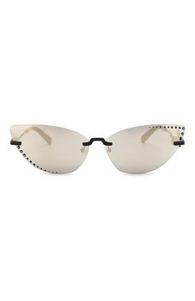 Женские солнцезащитные очки KENZO серебряного цвета, арт. KZ40004U 02C | Фото 3