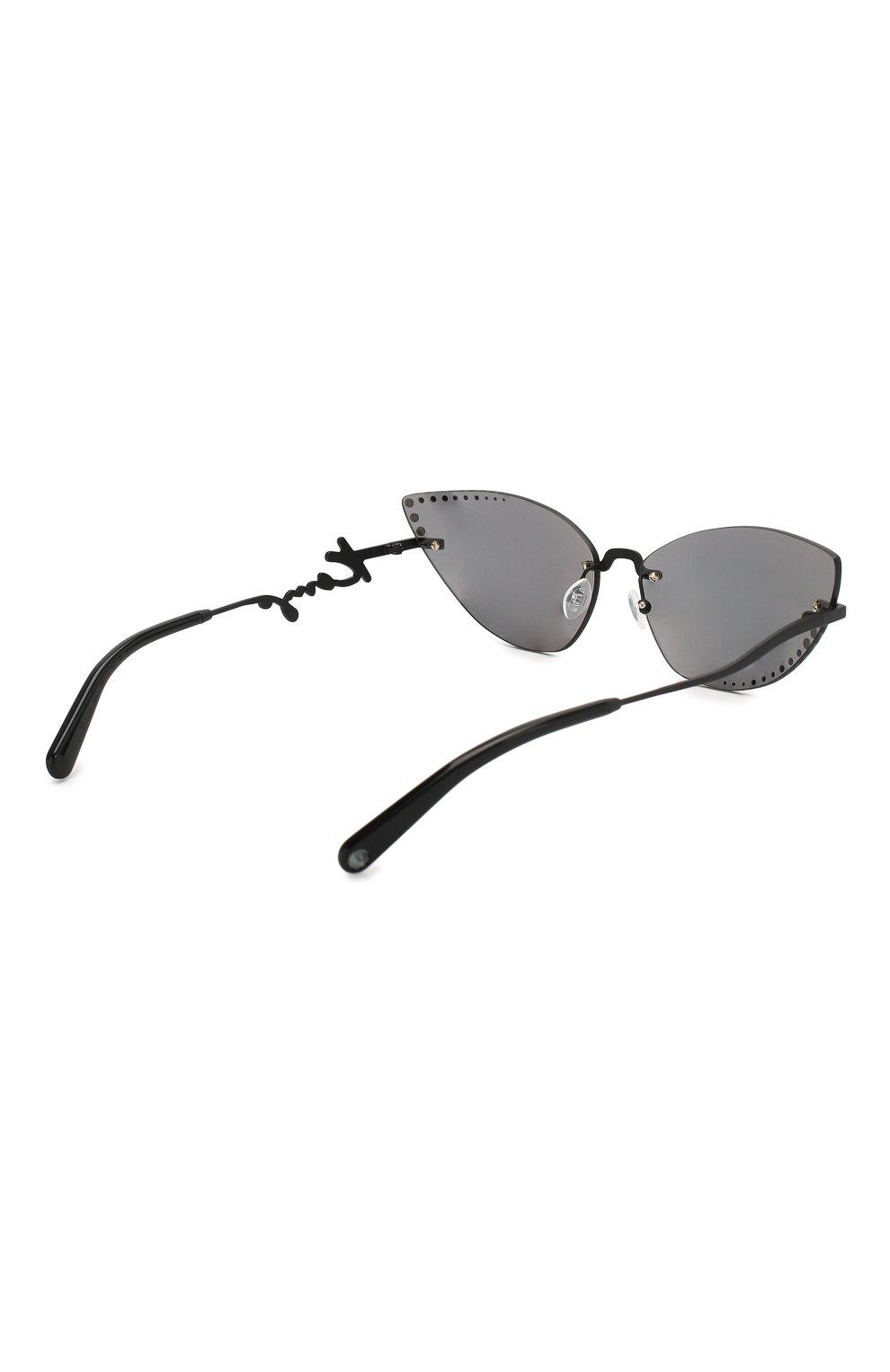 Женские солнцезащитные очки KENZO серебряного цвета, арт. KZ40004U 02C | Фото 4