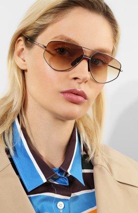 Женские солнцезащитные очки KENZO светло-коричневого цвета, арт. KZ40014U 12W   Фото 2
