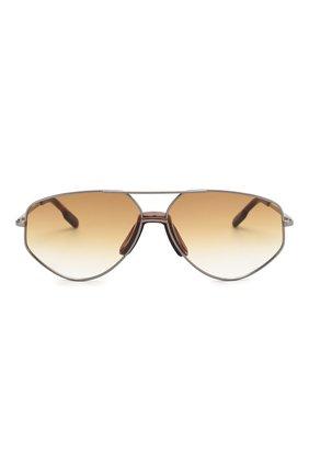 Женские солнцезащитные очки KENZO светло-коричневого цвета, арт. KZ40014U 12W   Фото 3