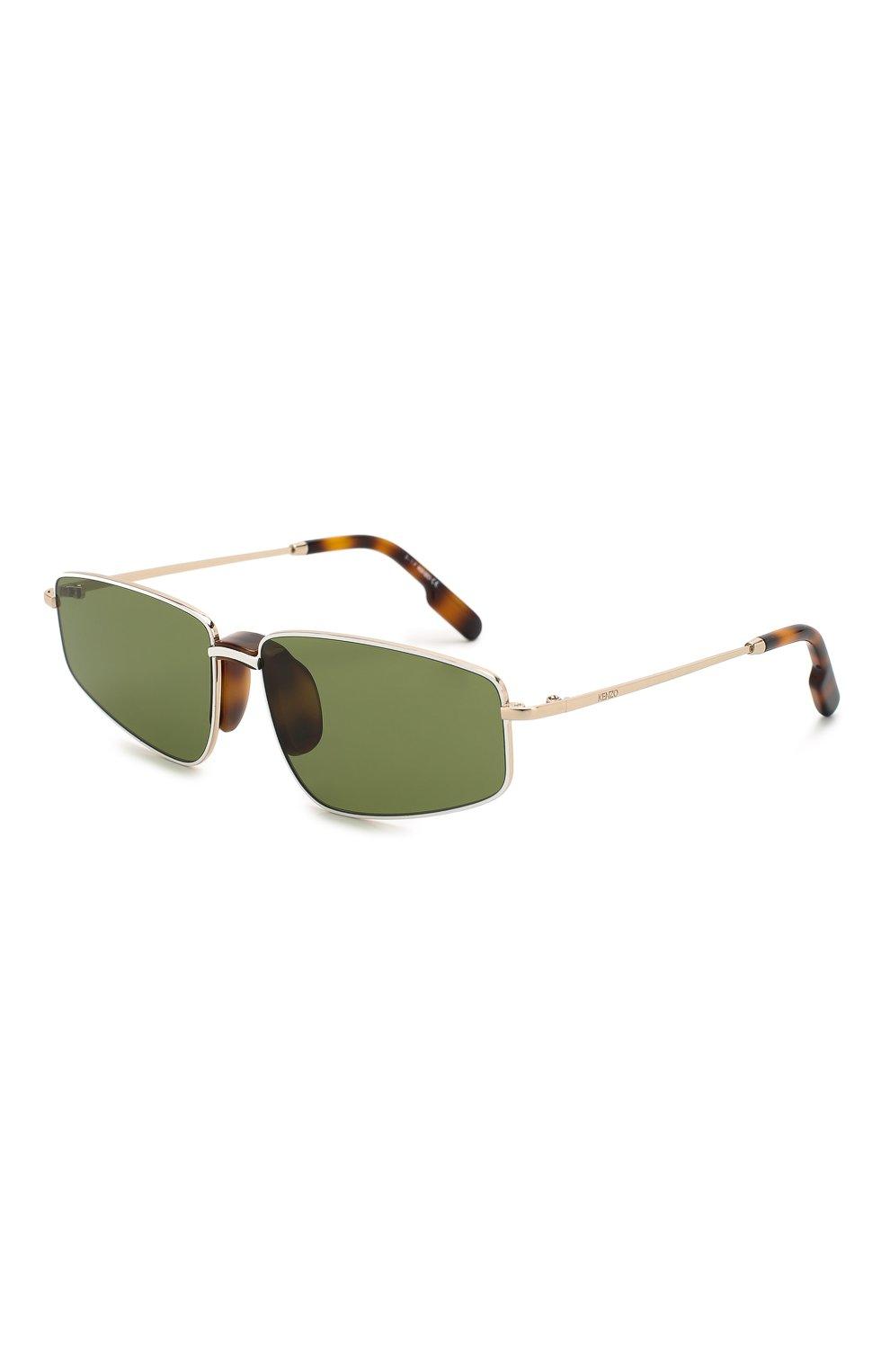 Женские солнцезащитные очки KENZO темно-зеленого цвета, арт. KZ40015U 32N | Фото 1