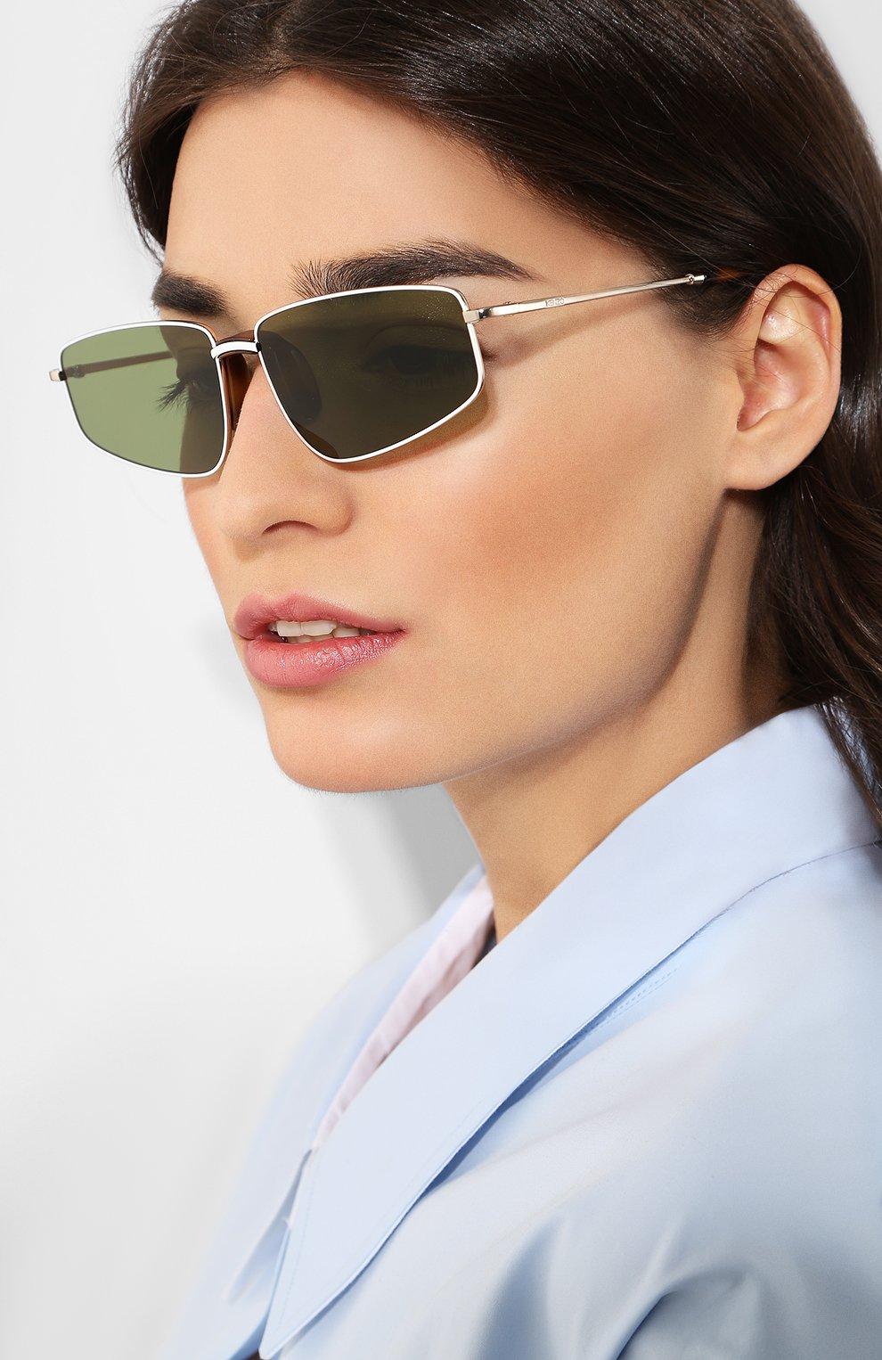 Женские солнцезащитные очки KENZO темно-зеленого цвета, арт. KZ40015U 32N | Фото 2